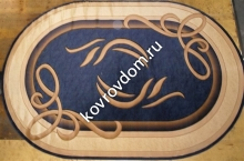 0094 NAVY-CREAM OVAL