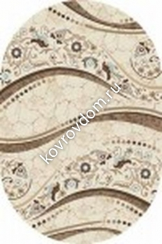 d312 CREAM-BROWN OVAL