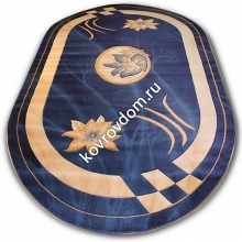 0417 NAVY-CREAM OVAL