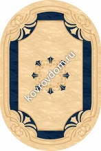 5333 CREAM-NAVY OVAL