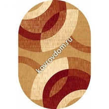 6786 BEIGE-RED OVAL
