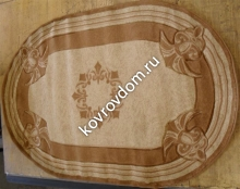0058A CREAM-D.BEIGE OVAL